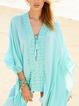 Lace Up Boho Cotton-Blend V Neck Casual Dresses