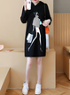 Hoodie Black Shift Women Daily Casual Cotton  Casual Dress