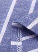 V Neck Blue Women Summer Dresses Cocoon Striped Dresses