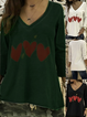 Cotton Vintage Printed Long Sleeve T-Shirts