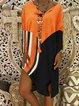 Women Summer Dresses Shift Daily Color-Block Dresses