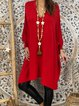 Red Casual Swing Solid Maxi Dresses