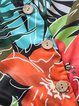 V Neck Floral Buttoned Slit Chiffon Dresses