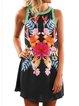 Black Cotton-Blend Sleeveless Casual Dresses