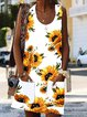 Summer Crew Neck Women Dresses Daily Pockets Floral Printed Dresses