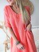 Half Sleeve Sweetheart Patchwork Dresses
