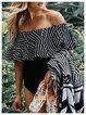 Black Off Shoulder Geometric Ruffles Bandeau One-piece Swimsuit