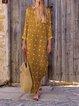 Summer V Neck Side Slit Polka Dots Vintage Dresses