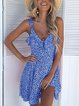 Women Summer Dresses Ruffled Polka Dots V Neck Dresses