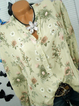 Floral Convertible Sleeves Buttoned Casual Blouses