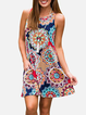 Casual Dresses Printed Sleeveless Pullover Dress With Pockets