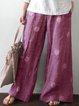 Vintage Loose Cotton-Blend Pants
