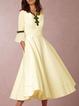 V Neck Women Spring Dresses A-Line Party Chiffon Dresses