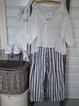 Linen Plus Size Casual Striped Pants