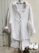 Women Tuxedo Linen Shirt Dress