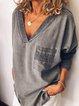 Women Vintage T-Shirt Tops Tunic