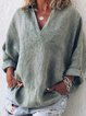 Long Sleeve Solid Simple & Basic Blouses