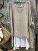 Sweet Cotton-Blend Long Sleeve Shirts & Tops