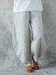 Solid Pockets Wide Leg Loose Harem Baggy Pants