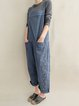 Pockets Sleeveless Abstract Wide Leg Leisure Jumpsuits
