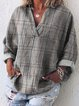Cotton Long Sleeve V Neck Holiday Shirts & Tops