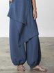 Cotton-Blend Women Pants