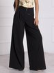 Pockets Paneled Wide Leg Loose Pants Skirts