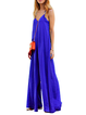 Women Jumpsuit Royal blue Casual V neck Spaghetti