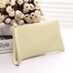Women's Casual Checked PU Zipper Purse Clutches