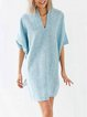 V Neck Women Casual Batwing Dresses