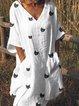 V Neck Women Dresses Shift Daily Printed Dresses