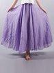 Casual Plus Size Elastic Waist Big Swing Hem Long Maxi Skirts