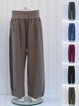 Lagenlook Natural Ladies Wide Leg Loose Pants Trousers