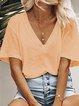 Women Casual Loose V neck T Shirt Tops