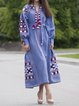 V Neck Women Dresses Going Out Casual Printed Dresses