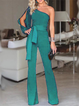 Elegant Long Sleeve Jumpsuits&rompers With Belt