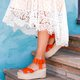Womens Pu Casual Summer Wedge Heel Sandals