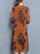 Yellow Two Piece Women Daytime Elegant Half Sleeve Printed Floral Elegant Dress