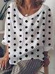 Cotton-Blend Long Sleeve Peter Pan Collar Shirts & Tops