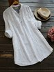 V Neck Women Casual Dresses Shift Daily Cotton-Blend Dresses