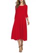 Women Daily Cotton 3/4 Sleeve Paneled  Summer Dress