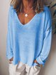 Plus Size Casual Cotton-Blend Long Sleeve Women T-shirts
