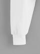 White Letter Long Sleeve Casual Blouses