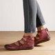 Women Casual Flat Heel Adjustable Buckle Leather Shoes
