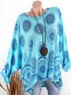 Women Blouses Cotton Casual Long Sleeve Printed/dyed Blouses