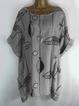 Short Sleeve Printed Animal T-shirt