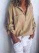 Women V Neck Cotton Loose T Shirt Tops Tunic