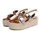 Platform Sandals Espadrilles Wedge Sandals Open Toe Buckle Strap Shoes