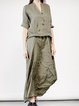 V Neck Women Dresses Going Out Buttoned Dresses