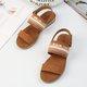 Women Brown Flat Heel Summer Sandals